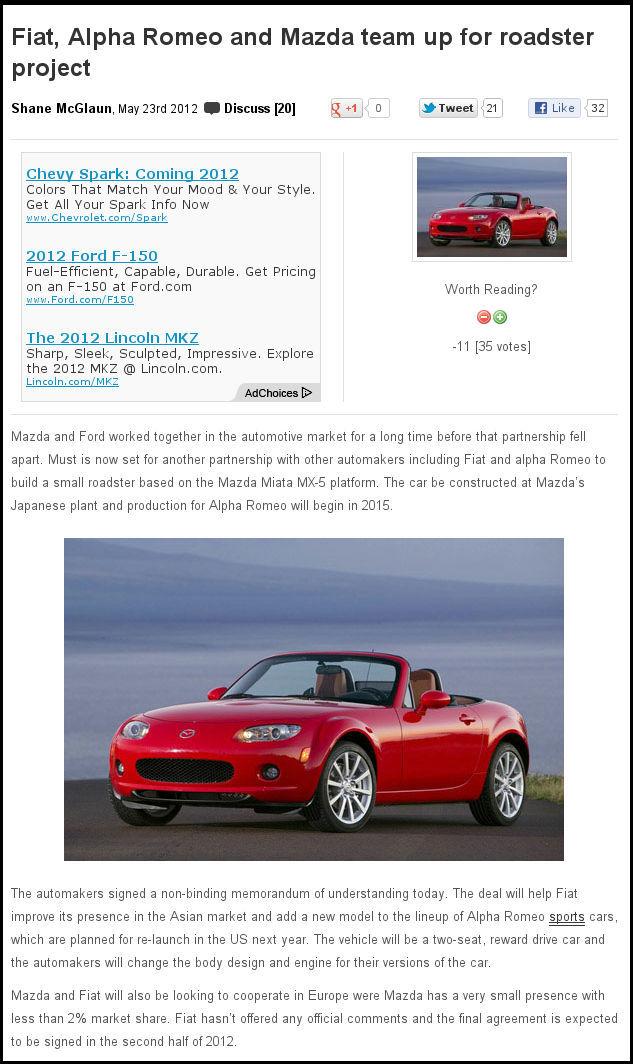 Alfa Romeo proofreading