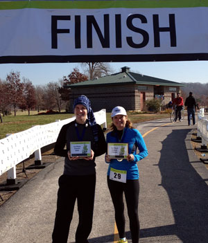 2012 St. Jude Give Thanks Walk - Saint Louis, MO - male and female first-place runners