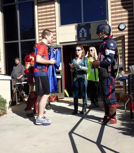 2016 NCAC Superheroes race - Nathan Zachary award acceptance