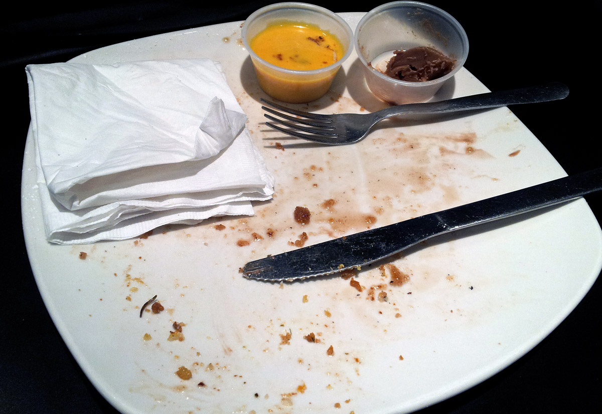 Dame's Chicken and Waffles, Durham, NC - cleaned plate