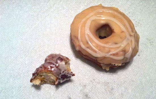Monuts Donuts, Durham, NC - peach cake and dulce de leche