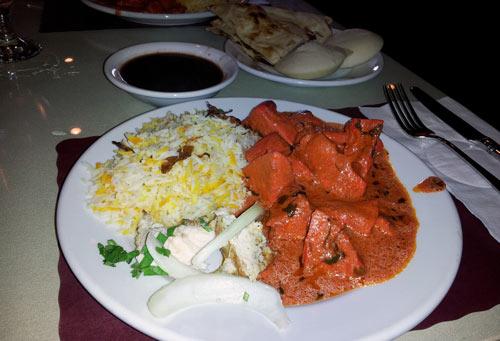 Sitar Indian Restaurant - Durham, NC - my lunch