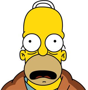 Homer Simpson confused look - doh