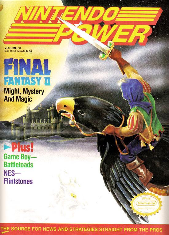 Nintendo Power Magazine - Final Fantasy II cover - Issue 30