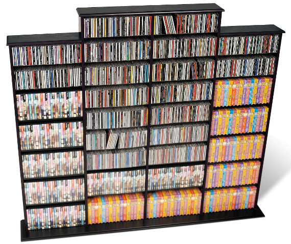 Prepac BMA-1520 quad width media rack