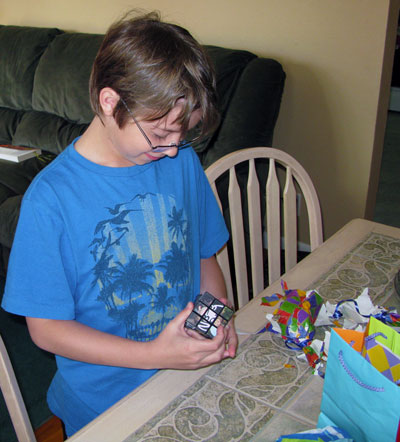 Noah's custom Rubik's cube for his birthday in 2009