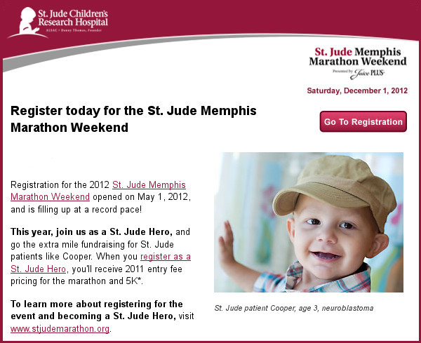 2012 St. Jude Children's Hospital marathon race