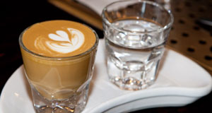 Comet Coffee Macchiato and seltzer