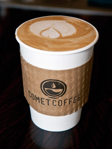 Comet Coffee to-go cup