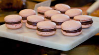 Comet Coffee Microbakery - Strawberry and Chocolate Ganache Macarons