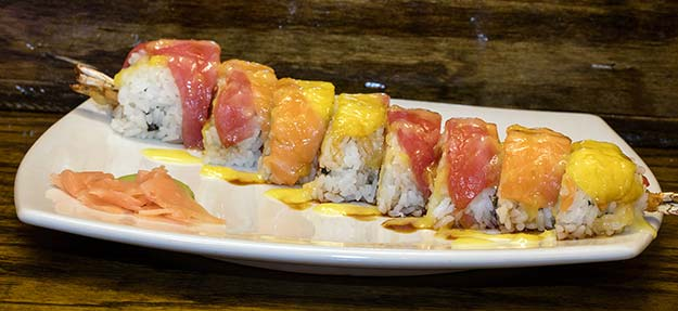 Mastercard roll at J Sushi in St. Louis, MO