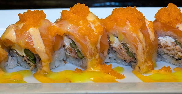 Salmon Killer roll at J Sushi in St. Louis, MO