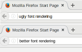 Ugly fonts in Firefox and Thunderbird under Linux - skia and cairo