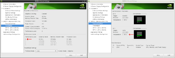 NVIDIA Linux drivers Performance Level after Xorg settings