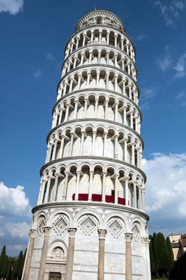 The Leaning Tower of Pisa definitely does lean