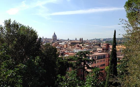 A view of Rome from Borghese Park