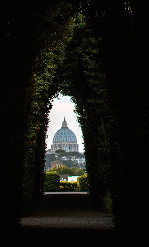 View of Rome from the Knights of Malta Keyhole