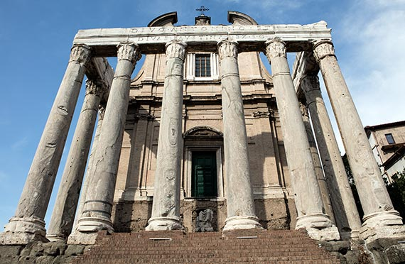The Roman Forum - Temple of Antoninus and Faustino