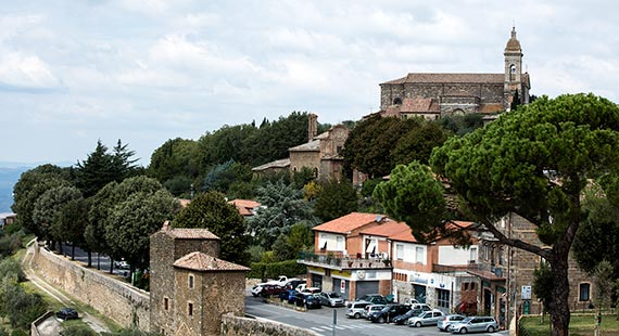 Montalcino in Tuscany, Italy - view of the town
