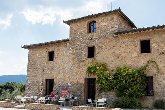 Vernaccia Wine Museum in San Gimignano, Italy