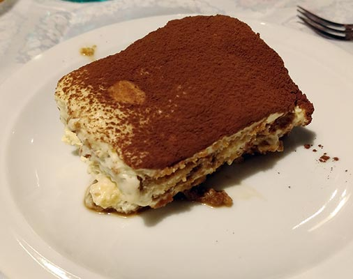 Finished Tiramisu at Cook Eat Italian cooking class in Florence