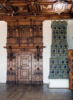 Südsteiermark - lovely tile stove inside Riegersburg Castle