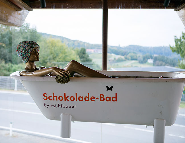 Südsteiermark - the chocolate bathtub at Zotter Schokoladen