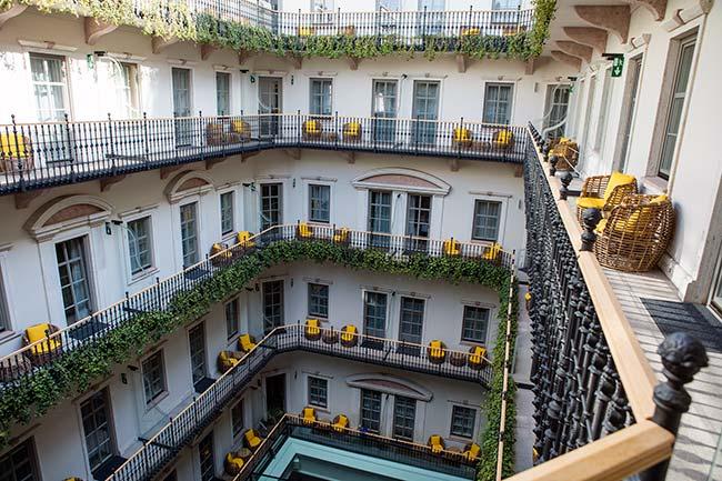 Budapest - Hotel Aria's stunning music garden courtyard