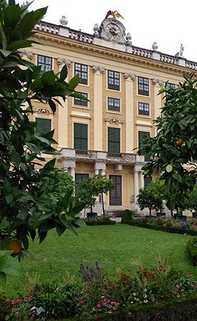 Vienna - Schönbrunn Palace - Privy Gardens clock