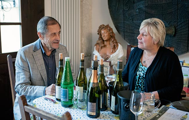 Kamptal DAC - Schloss Gobelsburg - Peter & Deb at our wine tasting