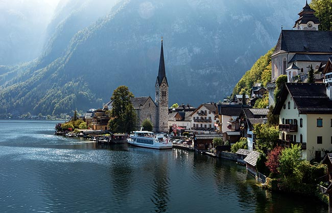 View of Hallstatt including the Lutheran church