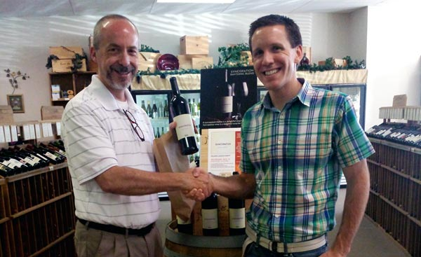 Mike Ward on Wine and Zach - first sale of Syncopation Rhythmic Red Blend